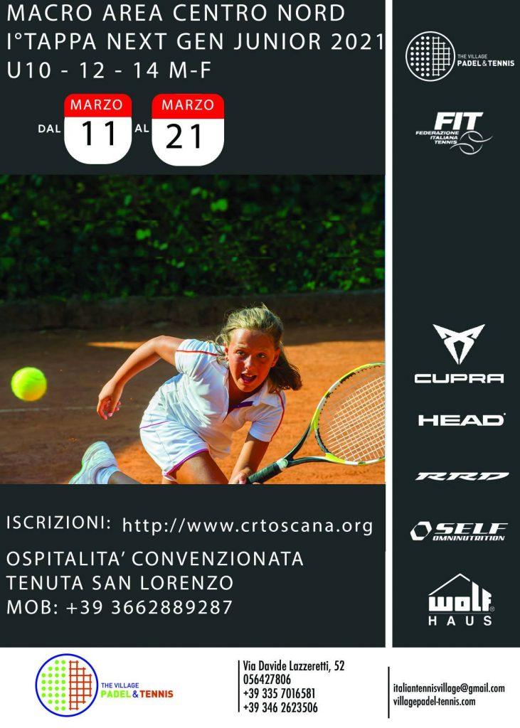 Torneo di Tennis a Grosseto: Macro Area Centro Nord I Tappa Next Gen Junior 2021